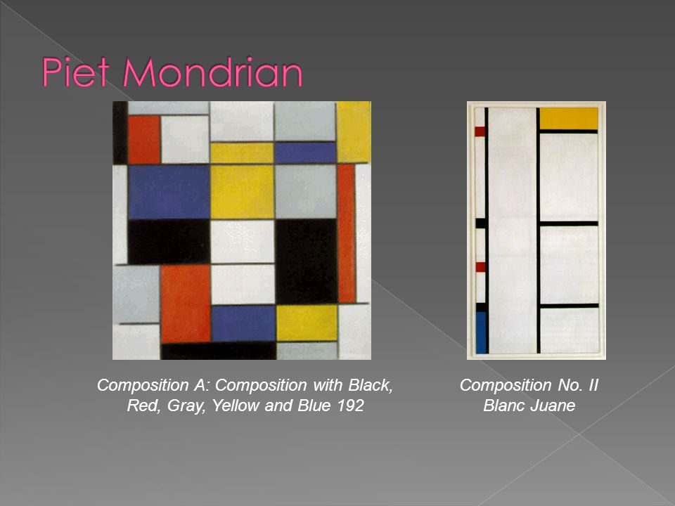 Piet Mondrian Composition A: Composition with Black, Red, Gray, Yellow and Blue 192.