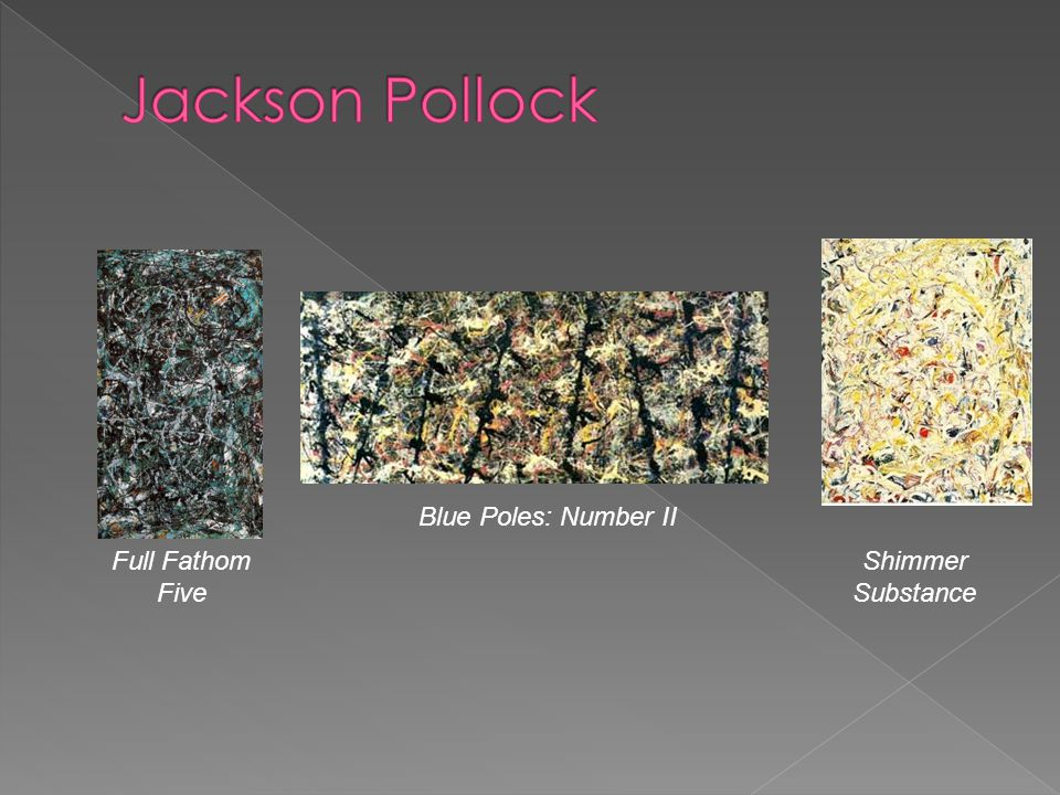 Jackson Pollock Blue Poles: Number II Full Fathom Five