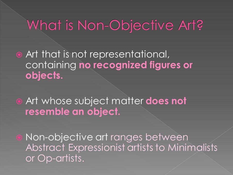 What is Non-Objective Art