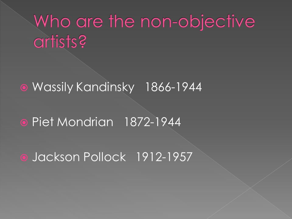 Who are the non-objective artists
