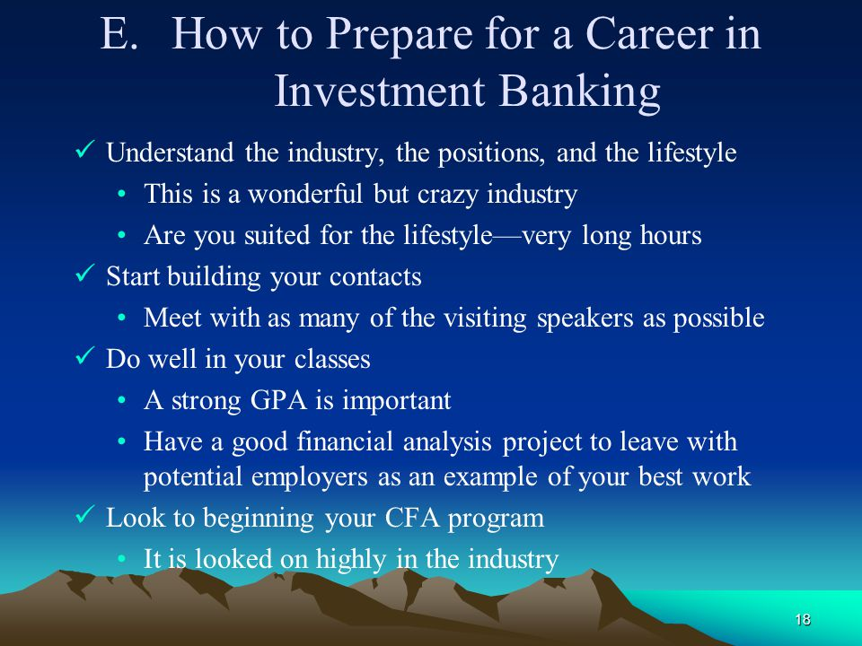 how to build a career in banking