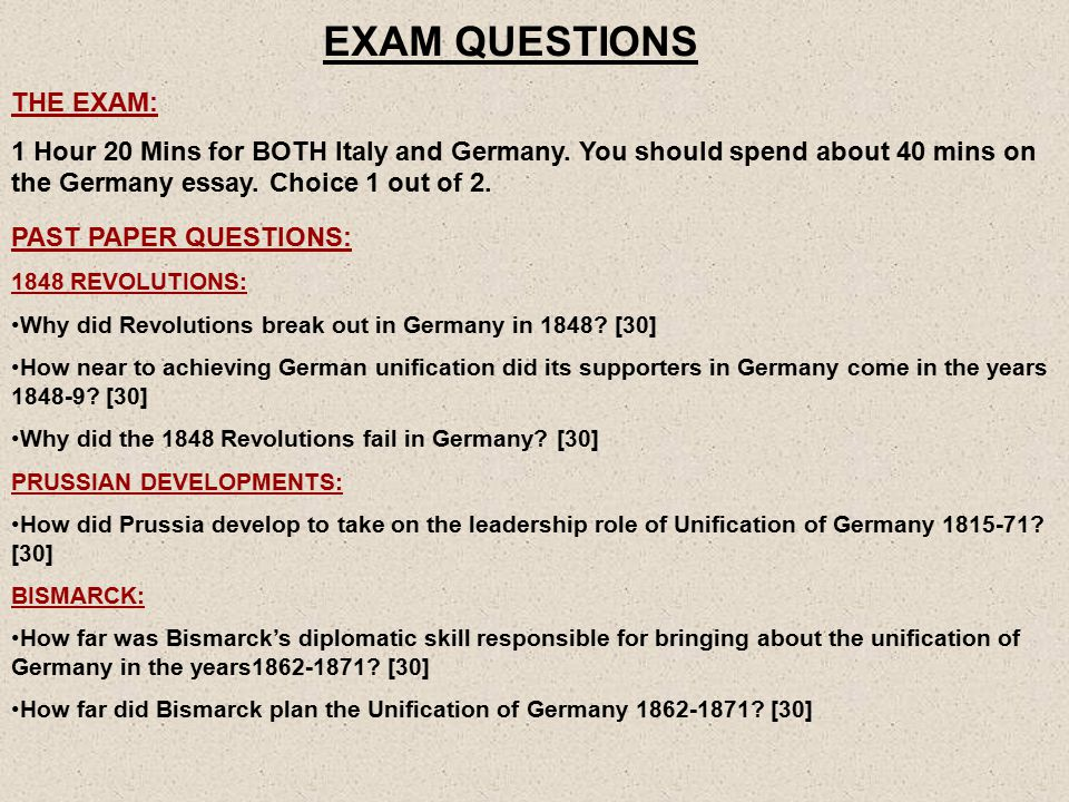 bismarck and the unification of as unit ppt  27 exam