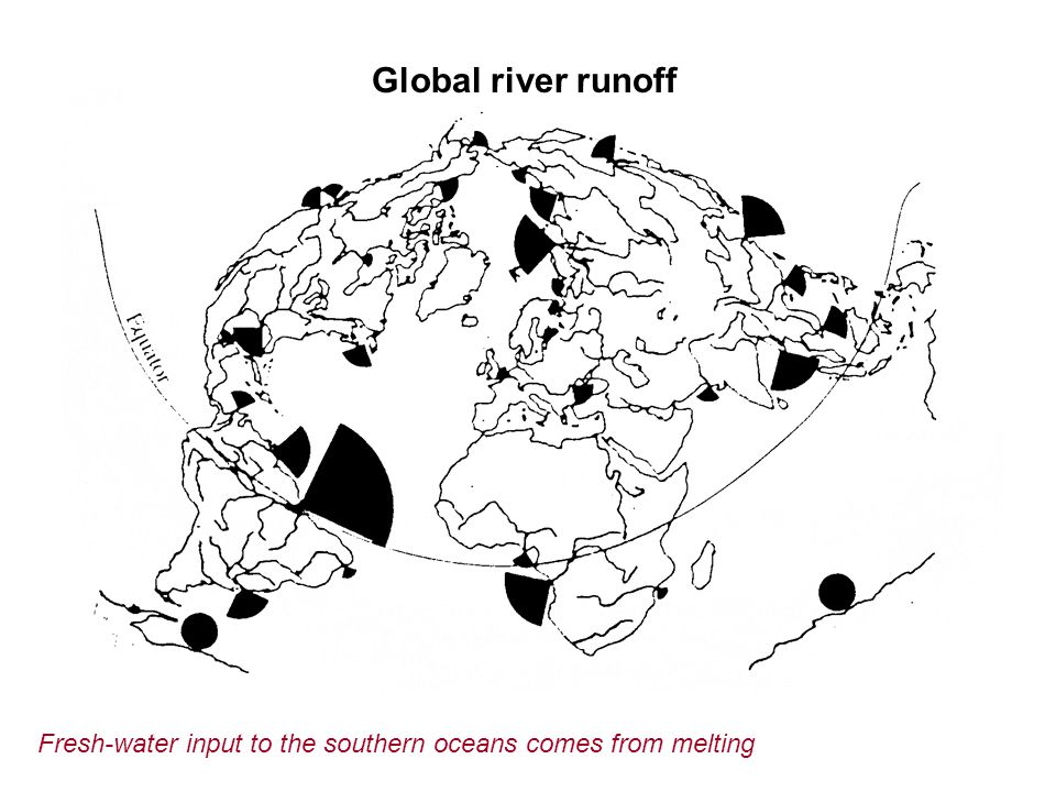 Global river runoff Fresh-water input to the southern oceans comes from melting