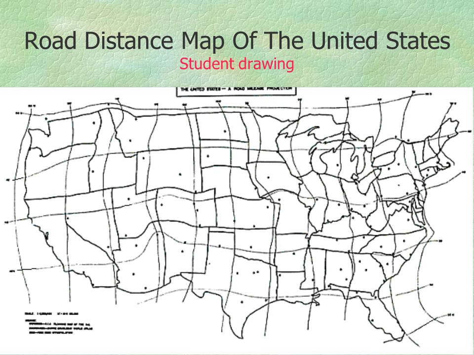 Unusual Map Projections Ppt Download - Us map distances roads