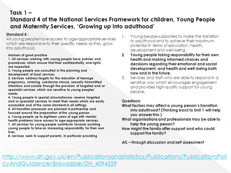 4 1 explain how own working practice can affect children and young people s development 41 – explain how own working practice can affect children and young people's development my own working practice can affect children and young people's development if i don't follow the policies and procedures to the setting.