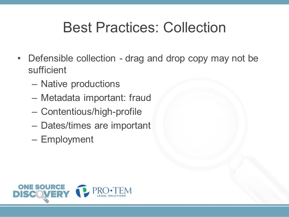 Best Practices: Collection