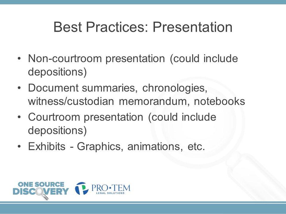 Best Practices: Presentation