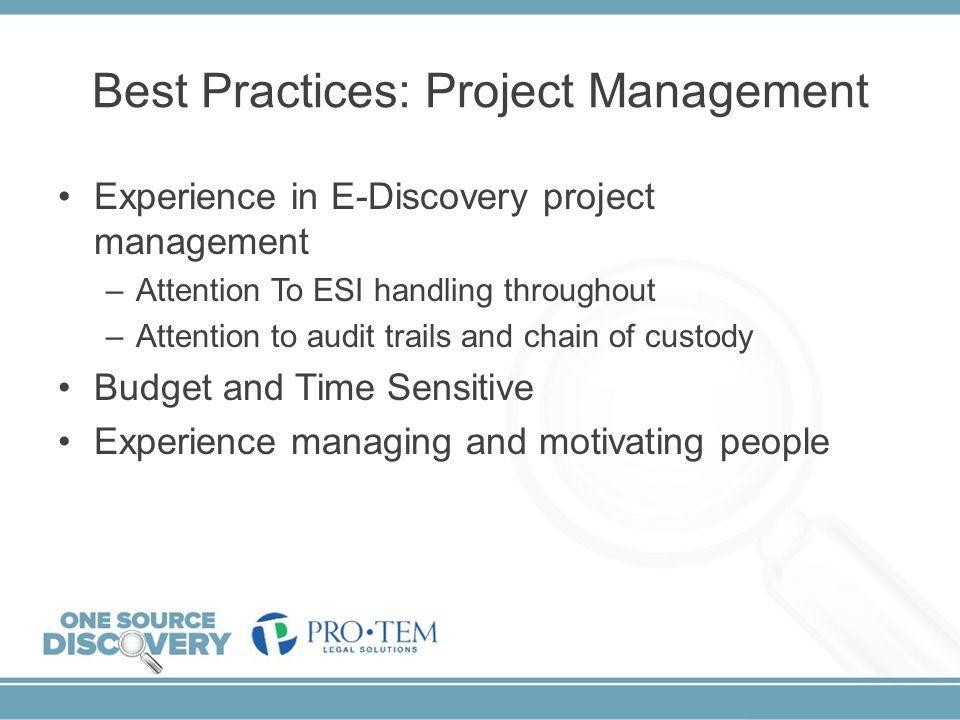Best Practices: Project Management