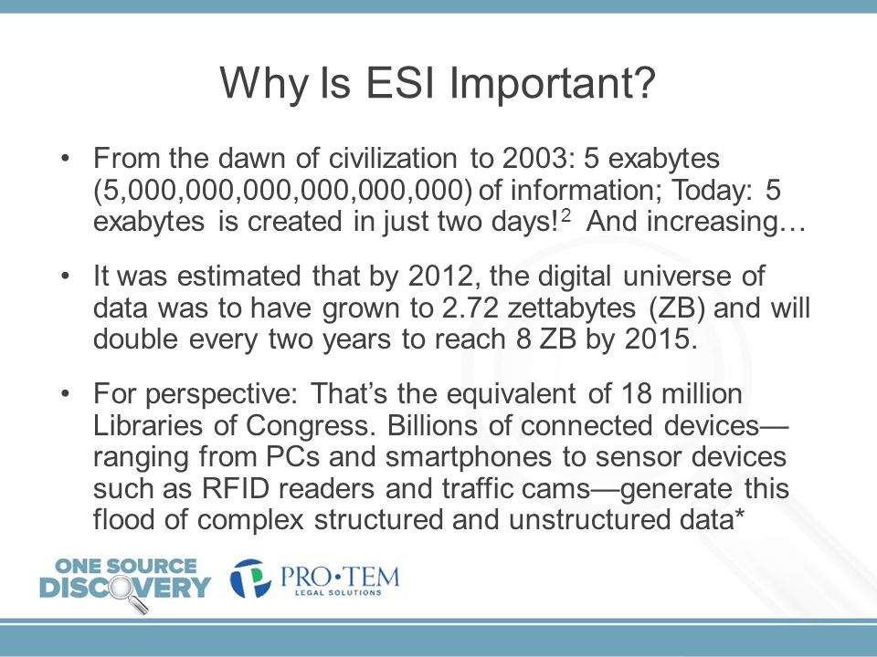 Why Is ESI Important