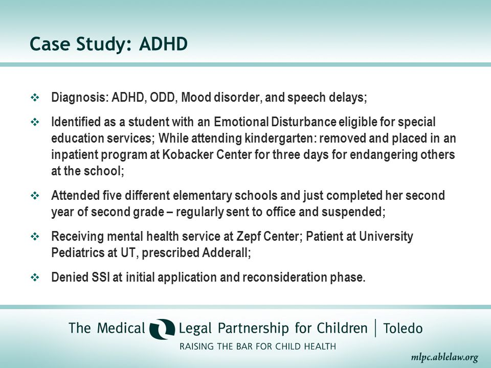 Case study of adhd student