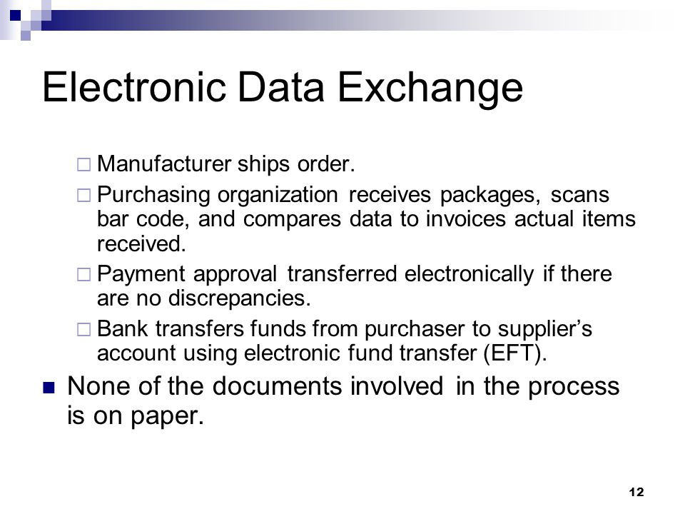 Electronic Data Exchange : Edi supply chain management and global information