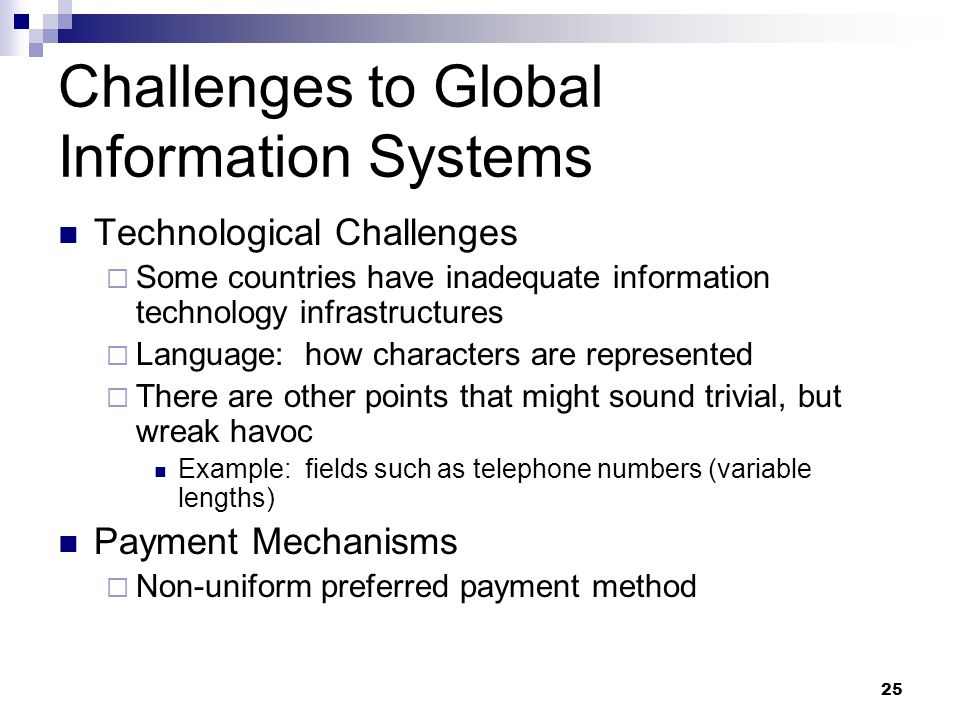Global Information Systems Management