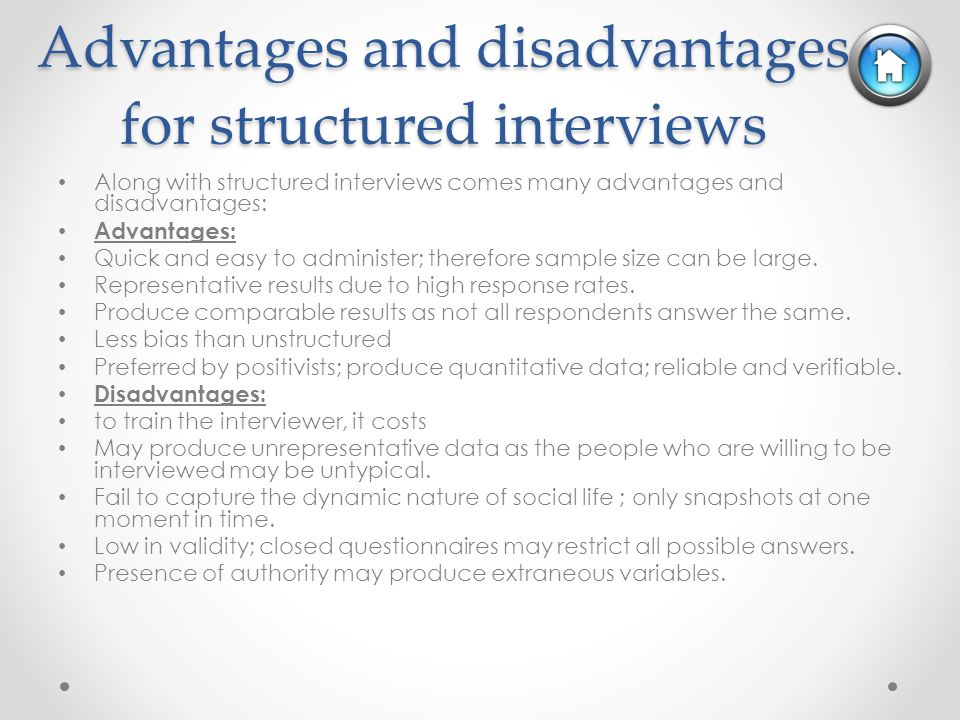 structured questionnaires sample A well-developed understanding of a topic allows researchers to create a highly structured interview guide or questionnaire that provides respondents with relevant, meaningful and appropriate response categories to choose from for each question.