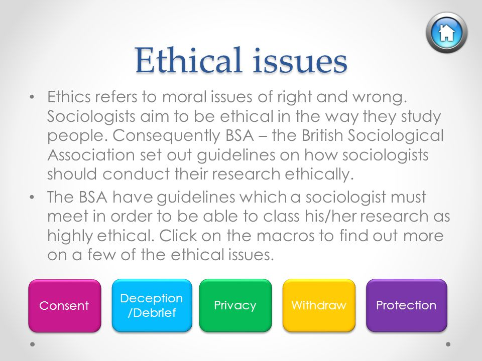 ethical implications in sociological field research Since the beginning of the human genome project, the national human genome research institute (nhgri)  we have an ethical, legal and social implications.