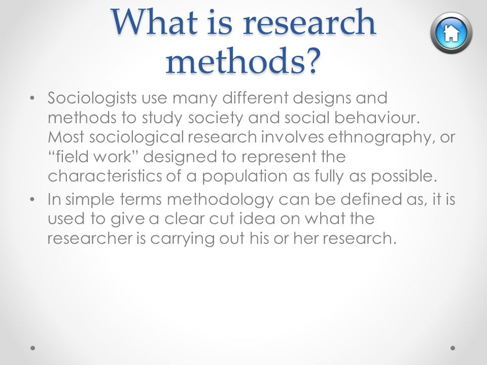 different types of sociological research Chapter one: the sociological perspective  characterize the basic research model and types of research  he studied suicide rates among different.