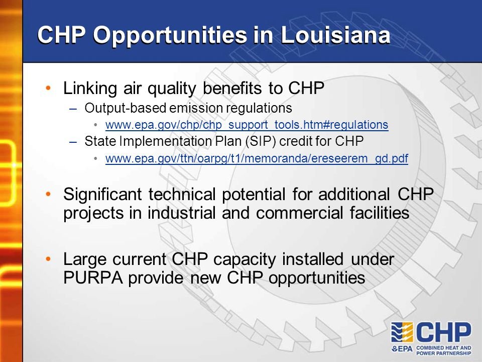 CHP Opportunities in Louisiana
