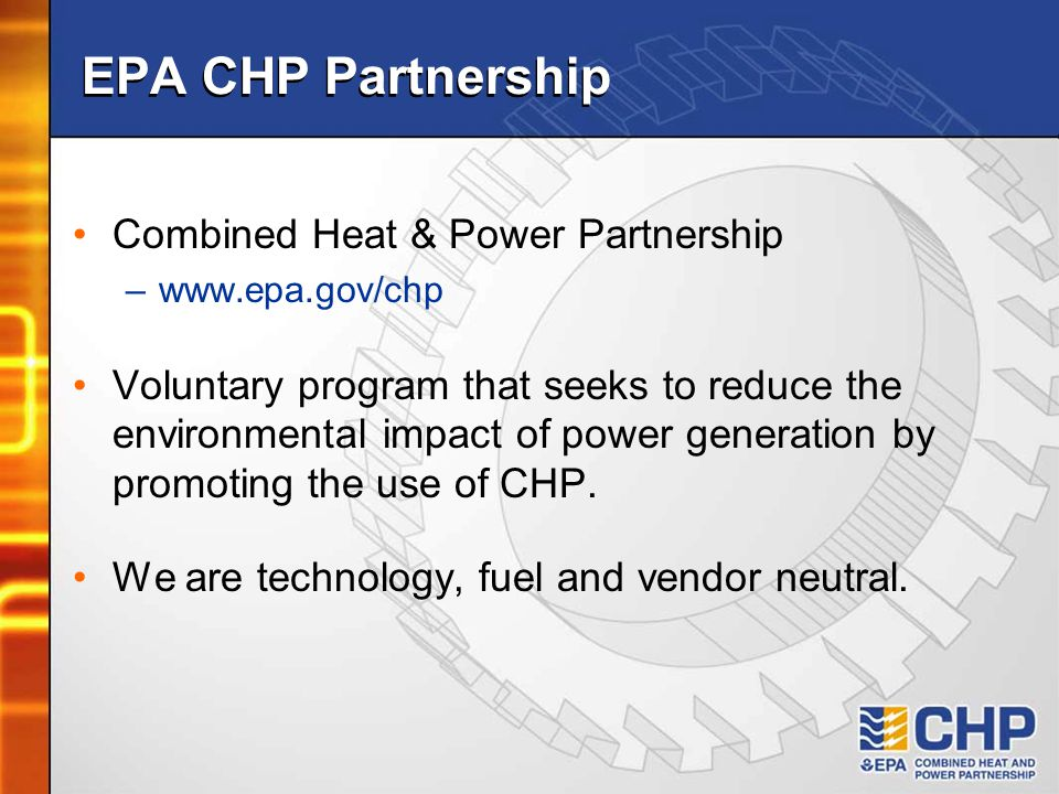 EPA CHP Partnership Combined Heat & Power Partnership