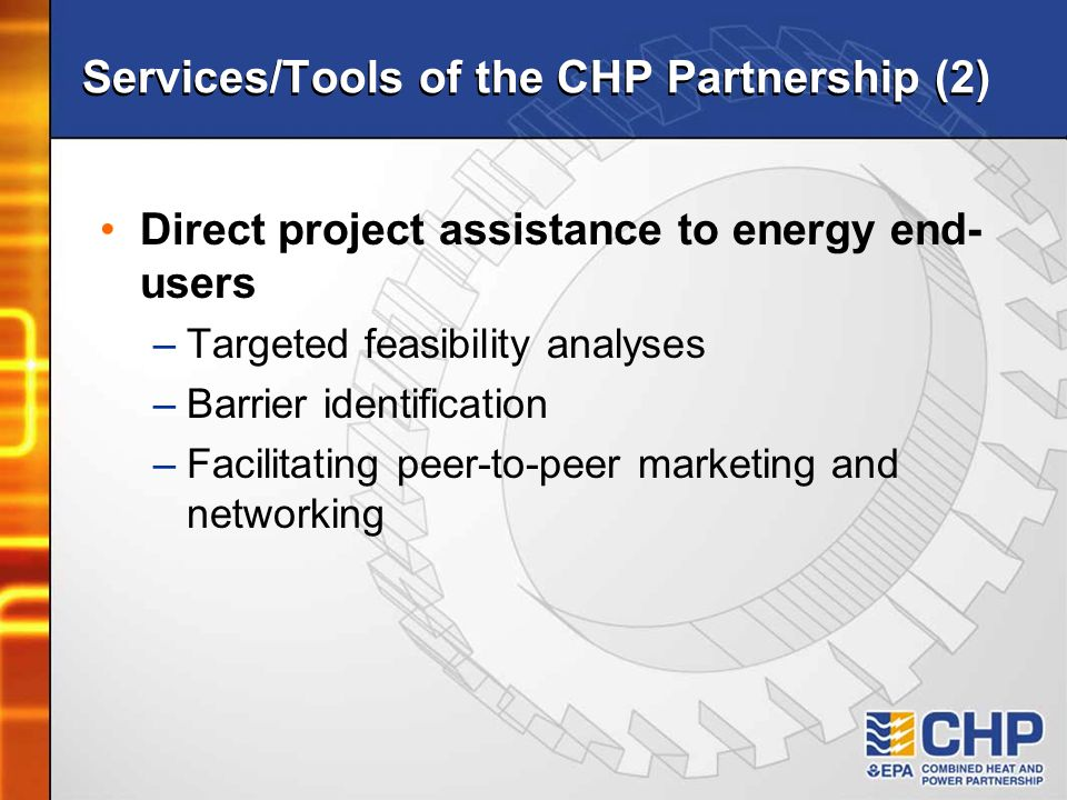 Services/Tools of the CHP Partnership (2)