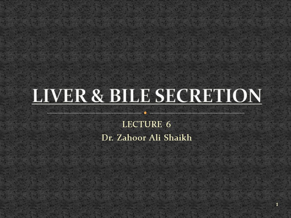 LECTURE 6 Dr. Zahoor Ali Shaikh