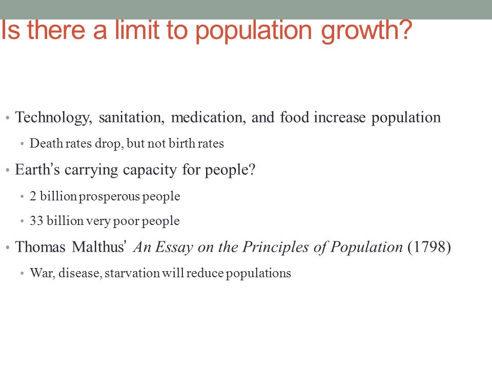 human population chapter ppt is there a limit to population growth