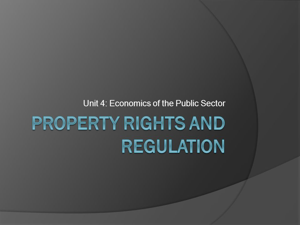 Property rights and regulation