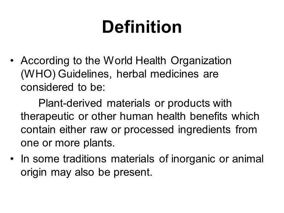 definition of herbal medicine pdf