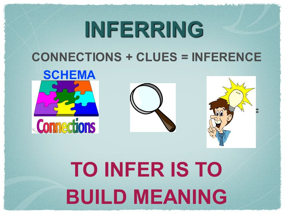CONNECTIONS + CLUES = INFERENCE
