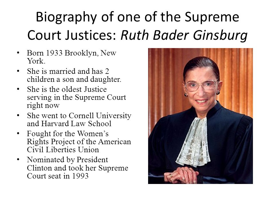 a biography of ruth bader ginsburg Review: rbg doc portrays ruth bader ginsburg as a woman of remarkable strength  in rbg, a lionizing biography of the us supreme court judge, .