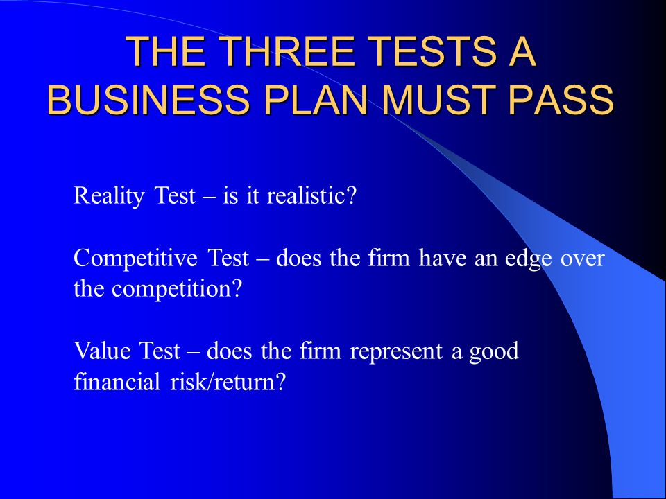 business plan and competitive edge