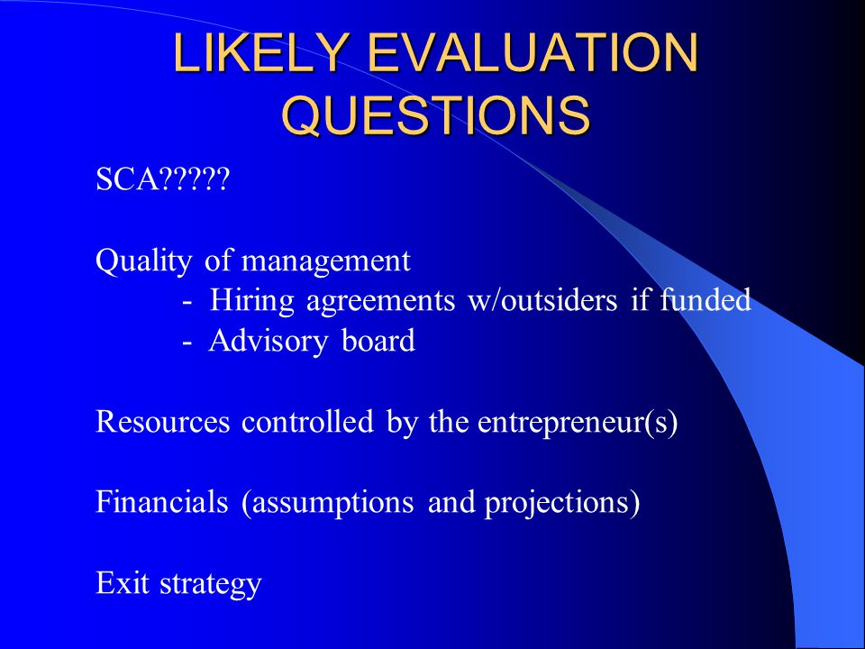 valuation questions