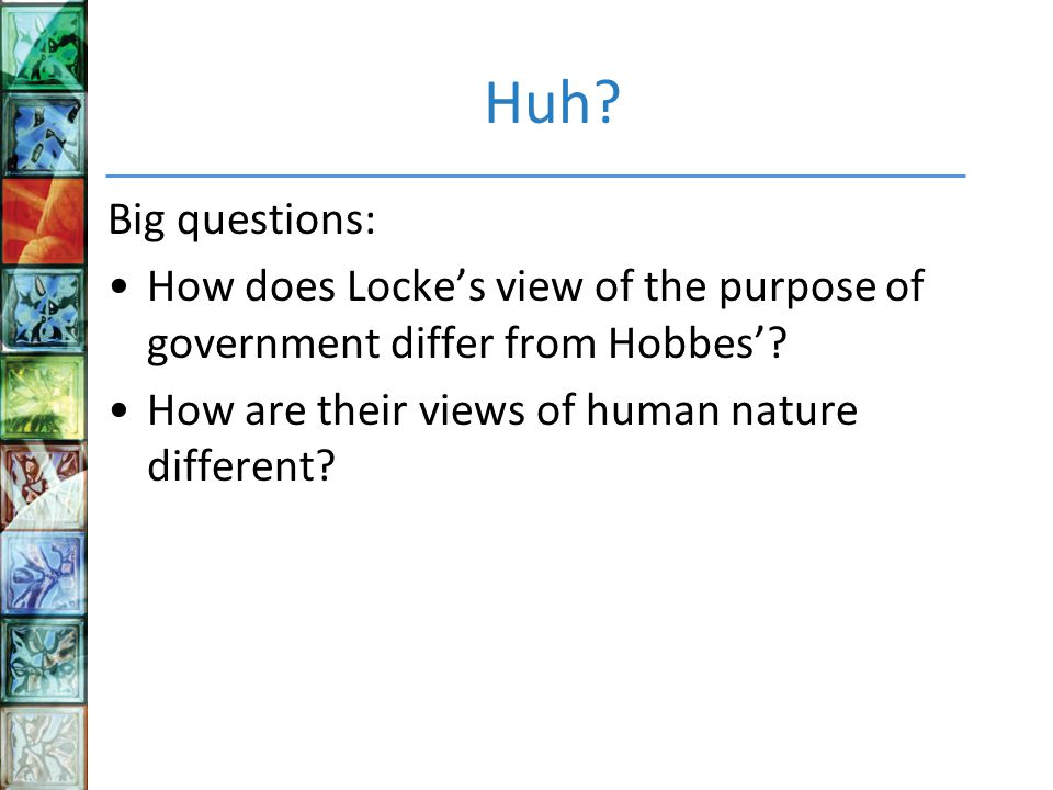 Locke S View On Human Nature
