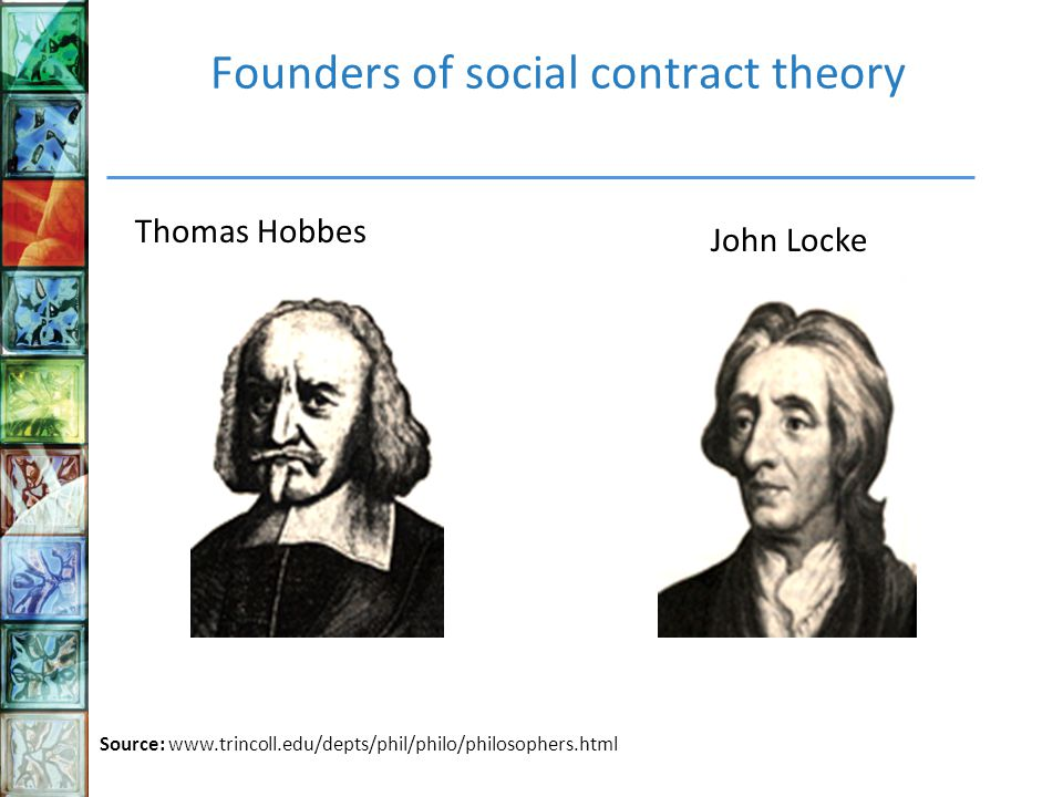 hobbes and locke social contract theory The social contract theory states that some amount of individual liberty must be given up in favor of common security thomas hobbes stated that men would always be in a condition of war if they did.