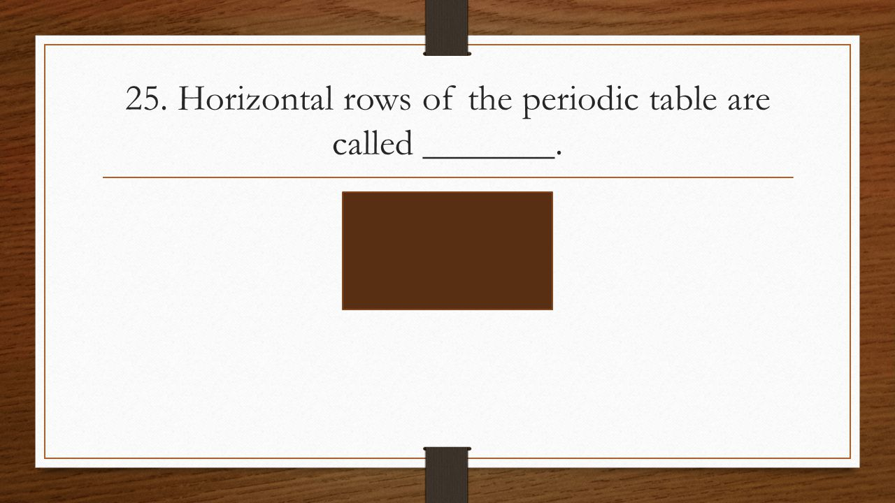 Properties of atoms and the periodic table ppt video online download horizontal rows of the periodic table are called gamestrikefo Choice Image