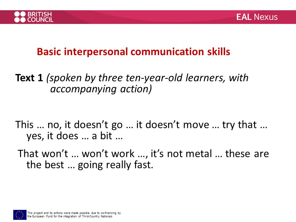 the basics of interpersonal communication pdf