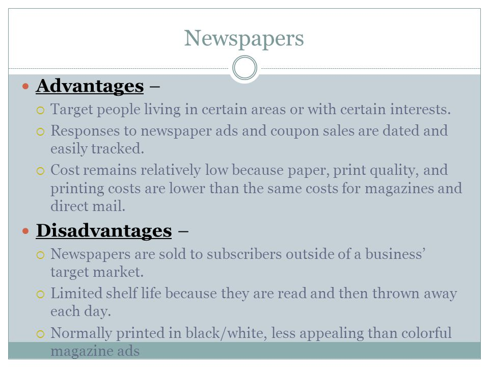 advantages of newspaper We are a full service newspaper marketing agency and digital ad placement service that saves you time and money every step of the way — from market research and proposal development to ensuring your campaign gets placed in the print, online and mobile platforms where it will be most effective.