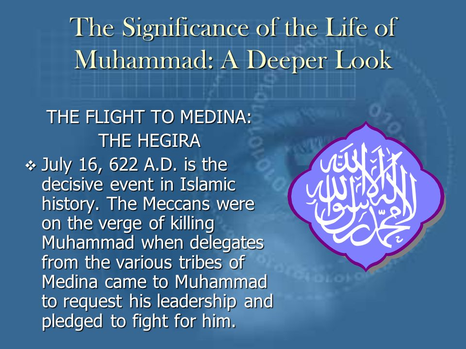 what was the importance of muhammad The hadeeths are used as legislative statements and are second only to the quran in importance in  was based on the following hadith from prophet muhammad.