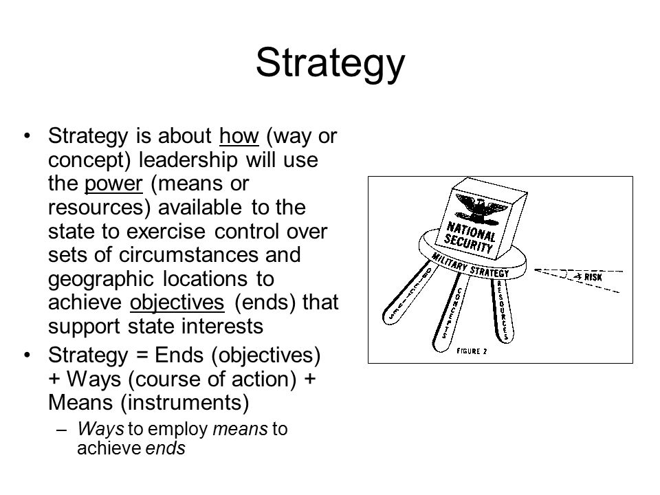 ends ways means of us military strategy Descriptions and definitions of strategy  applying military means to fulfill the ends of  which illustrated that strategy = ends + ways + means and if these.