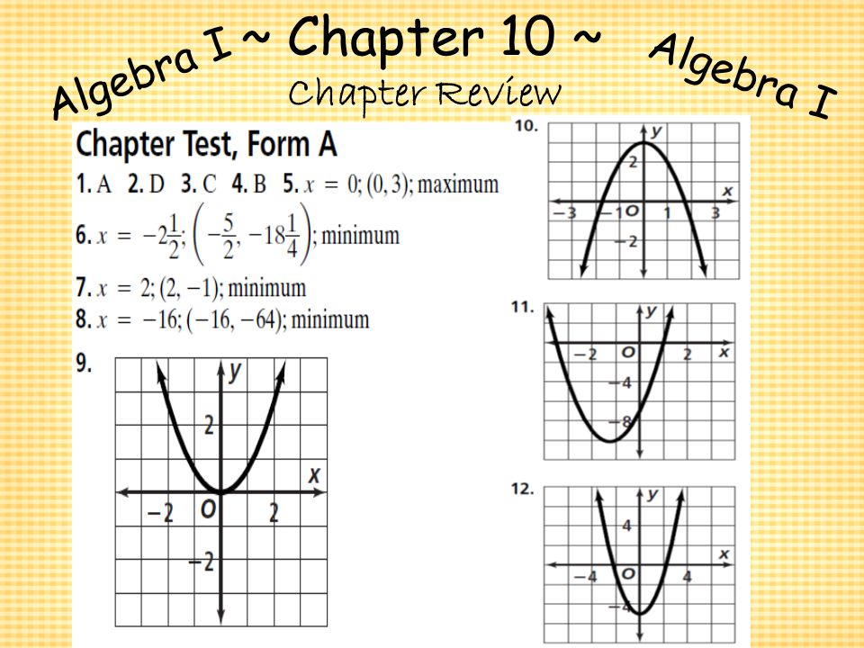 algebra i chapter review Review of chapter 11: sequences and series discusses arithmetic and geometric sequences and series.