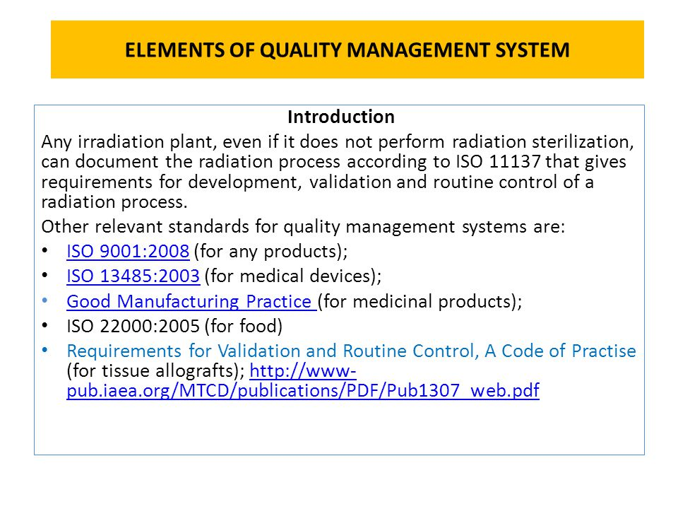 ELEMENTS OF QUALITY MANAGEMENT SYSTEM - ppt video online download