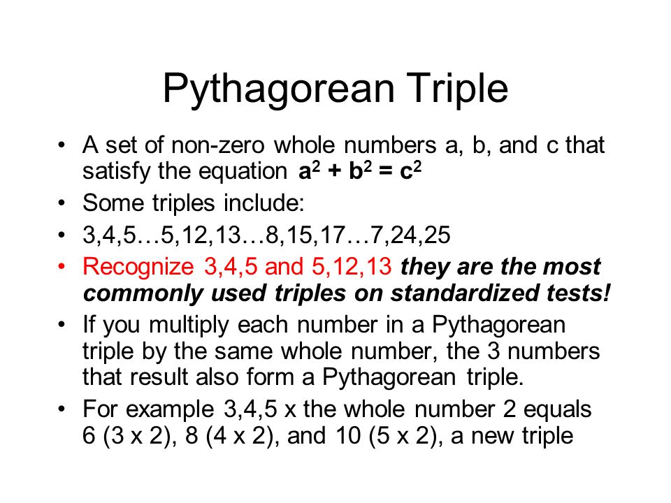 Unit 7 Triangles and Area ppt download – Pythagorean Triples Worksheet