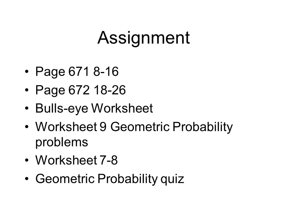 Unit 7 Triangles and Area ppt download – Geometric Probability Worksheet