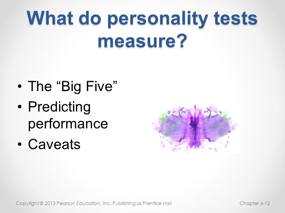 What do personality tests measure