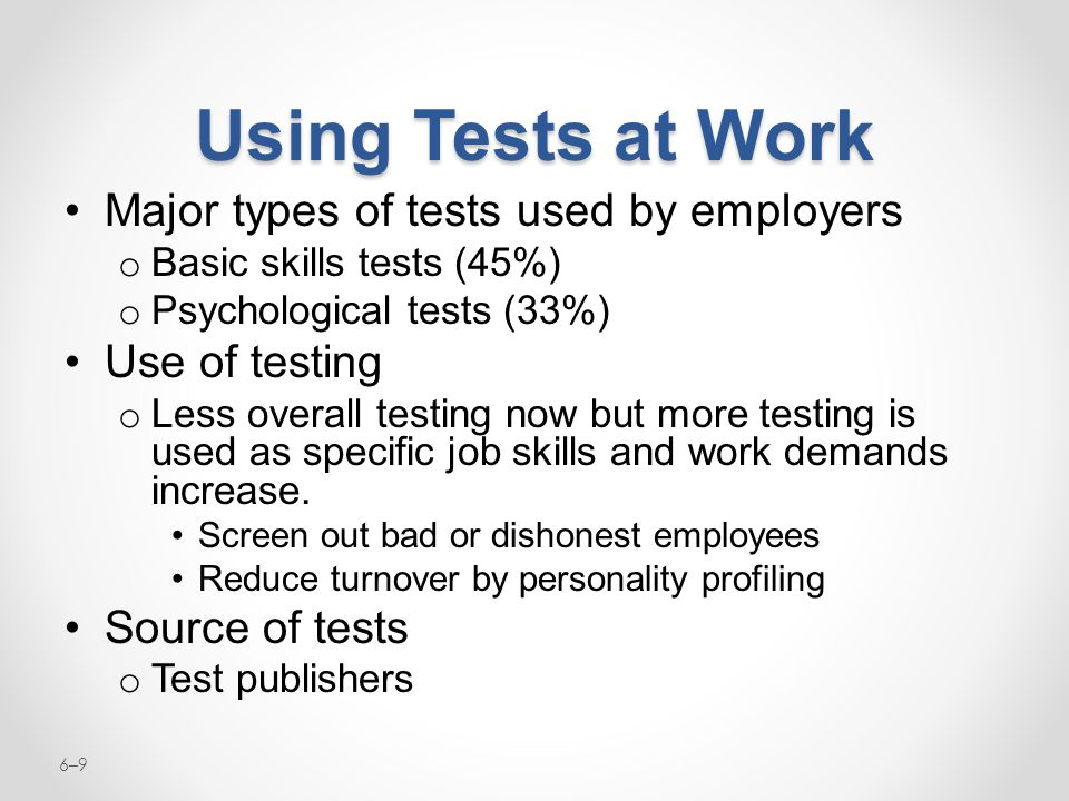 Employee Testing and Selection - ppt video online download