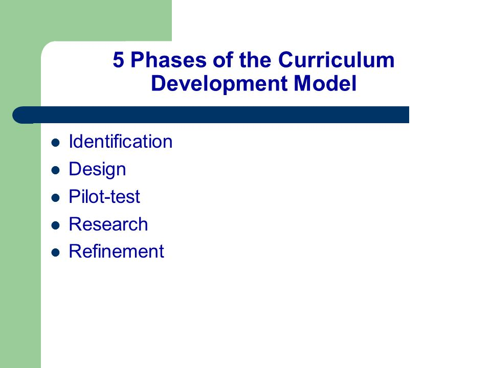 5 Phases of the Curriculum Development Model