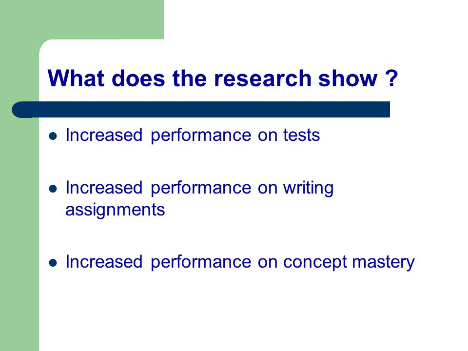 What does the research show