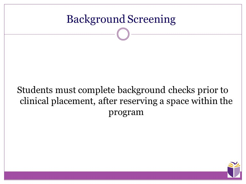 background checks of students It has been determined that such background checks should be required of all  students admitted to programs at kumc as a consequence, all.