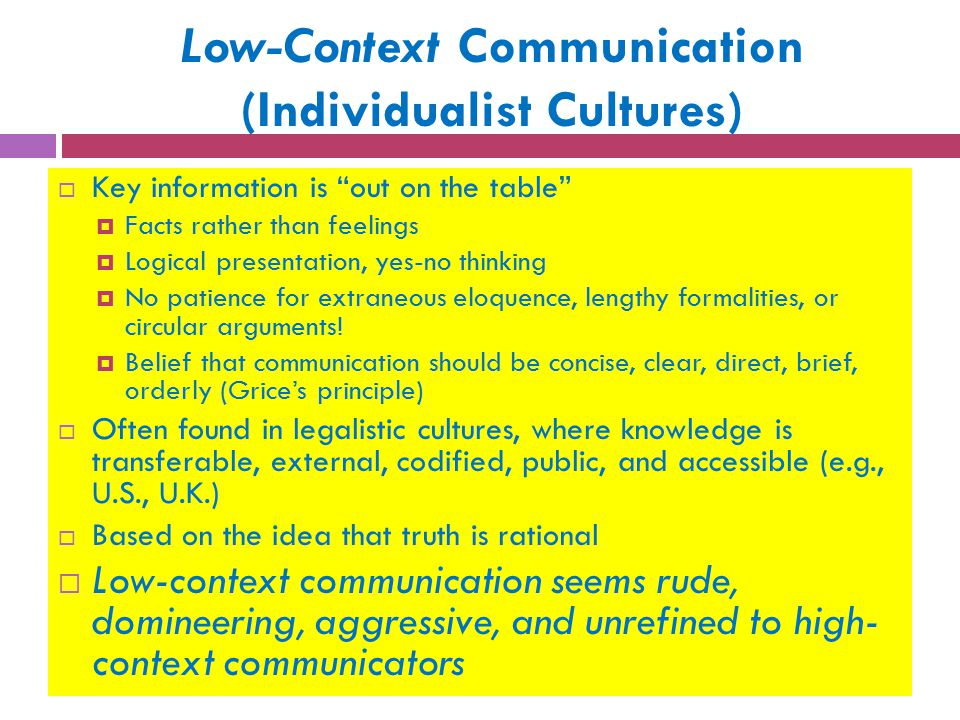 high context and low context cultures pdf