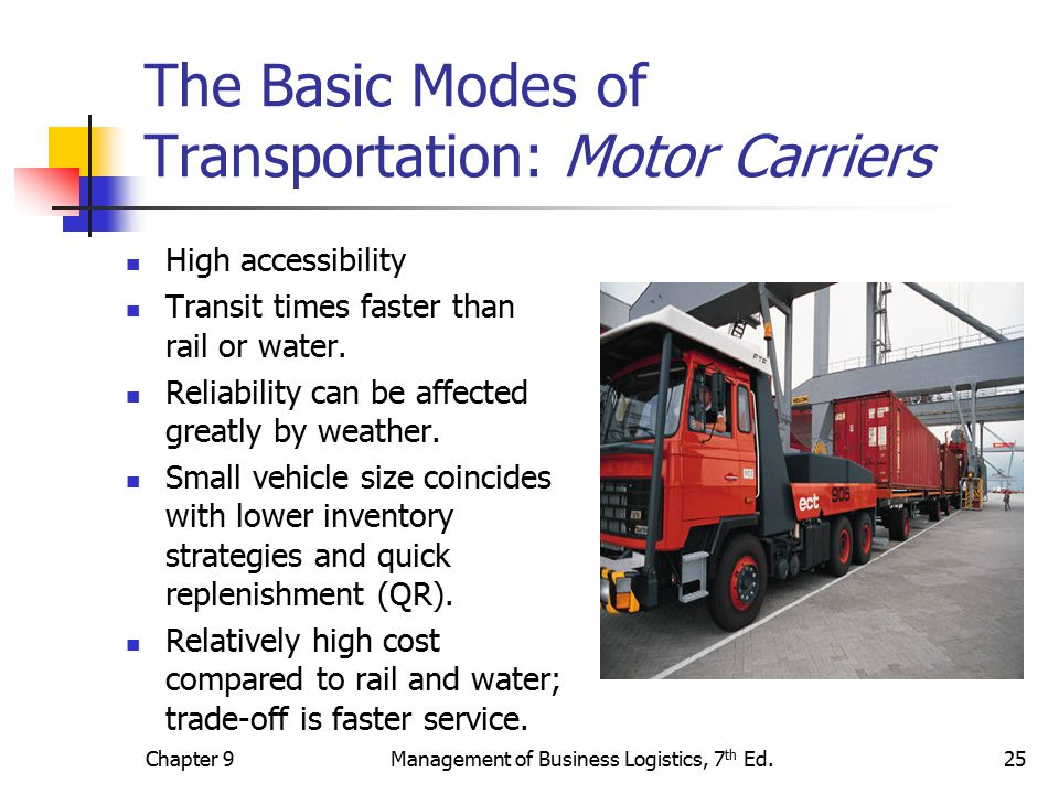 The transportation system ppt video online download for Can a motor carrier broker freight