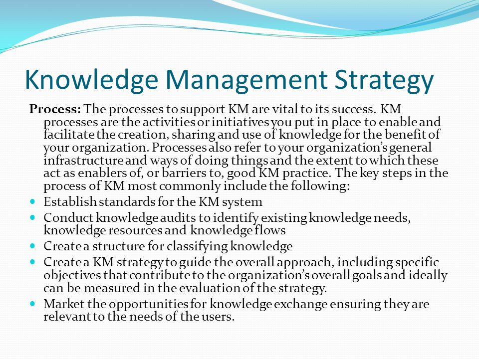 Knowledge Management Strategy Development