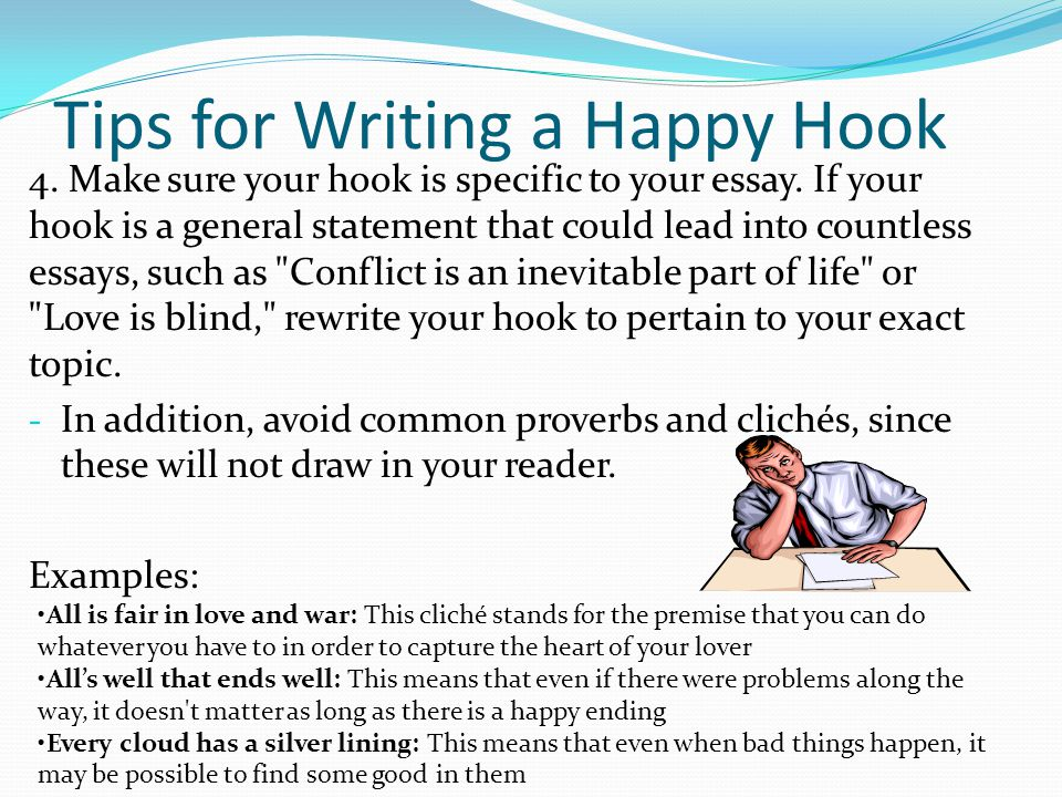 Hooks for essays